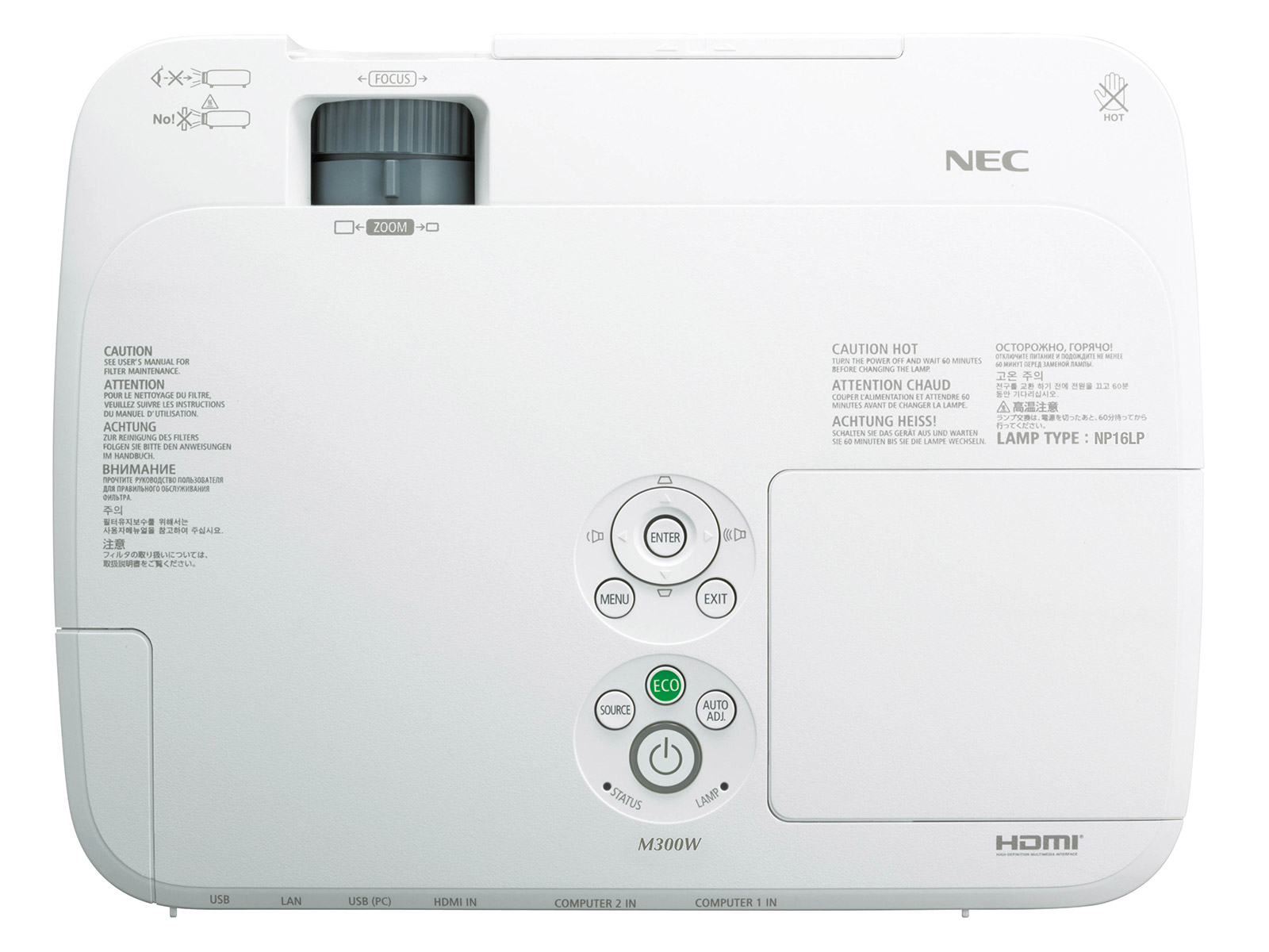 NEC M311X LCD 3100 ANSI 3000:1 1024x768 63 5 cm - 300