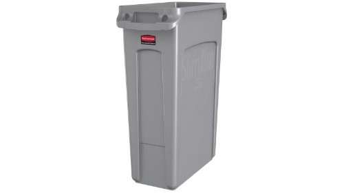 Rubbermaid FG354060GRAY waste container Rectangular Grey Resin