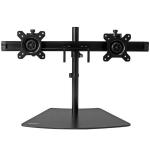 StarTech.com Dual-Monitor Stand - Horizontal - Black