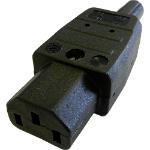 Cablenet IECSOCKET245HQ C13 3P Black electrical power plug