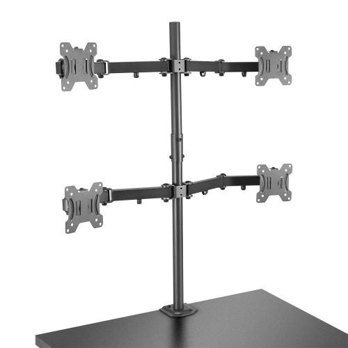 "Lindy 40659 flat panel desk mount 71.1 cm (28"") Screws Black"