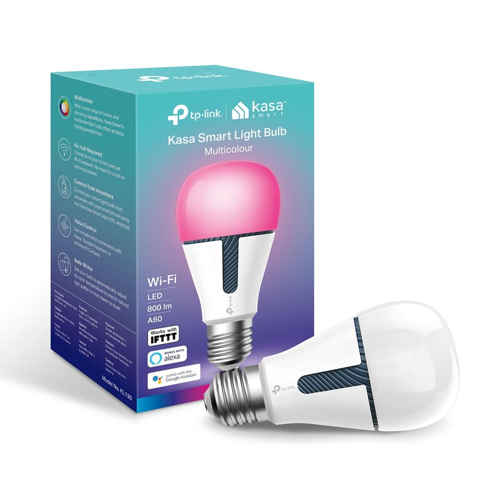 TP-Link KL130 - LED light bulb - shape: A19 - E26 - 10.5 W (equivalent 60 W) - class A+ - multicolou