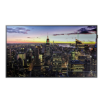 "Samsung QM55F Digital signage flat panel 55"" LED 4K Ultra HD Black"