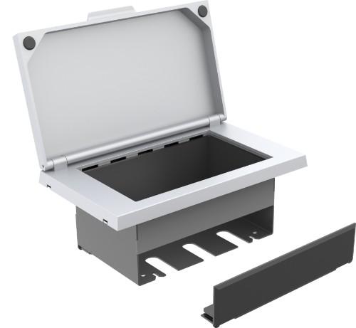 Vision TC3-TILTPU cable organizer Cable box Desk White 1 pc(s)