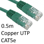 TARGET RJ45 (M) to RJ45 (M) CAT5e 0.5m Green OEM Moulded Boot Copper UTP Network Cable