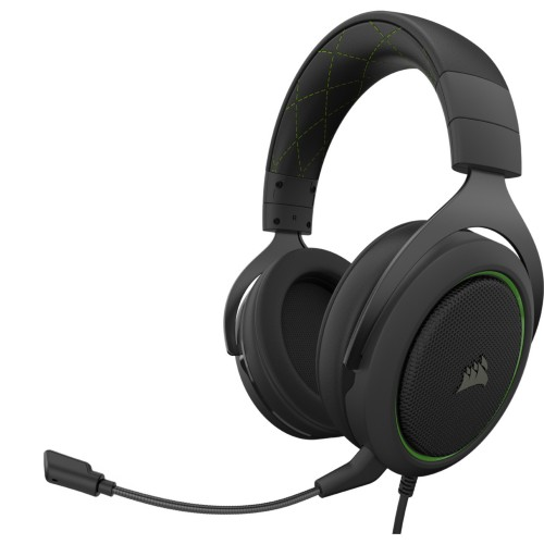 Corsair HS50 PRO STEREO headset Head-band Binaural Black,Green