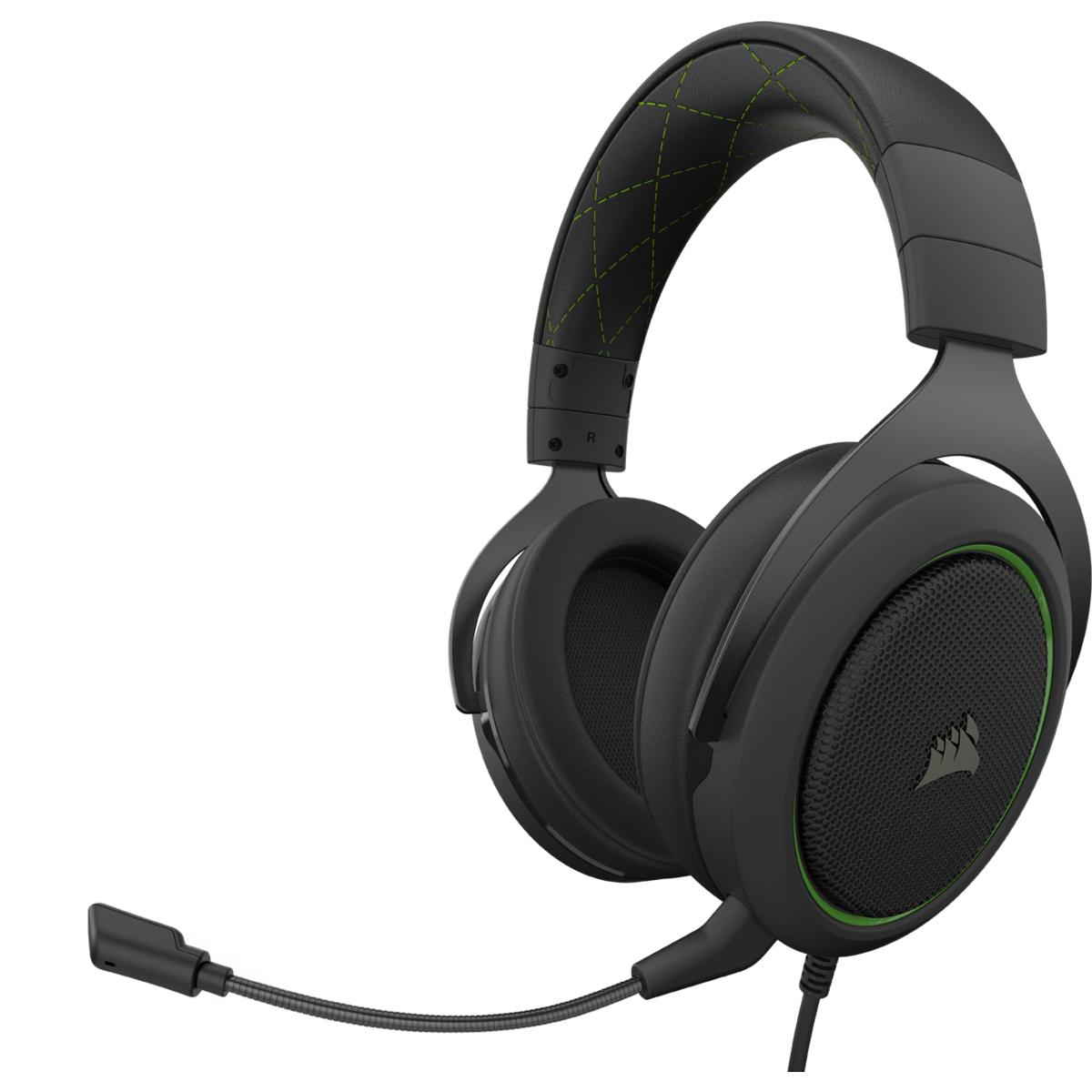 Corsair HS50 PRO STEREO Headset Head-band Black,Green