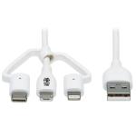 "Tripp Lite M101AB-004-LMCW mobile phone cable White 47.2"" (1.2 m) USB A"