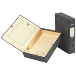 Rexel Classic A4 Lockspring Box File Black/Green (5)