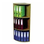 ROTADEX CORNER UNIT 3TIER LTOAK CU18 FMS