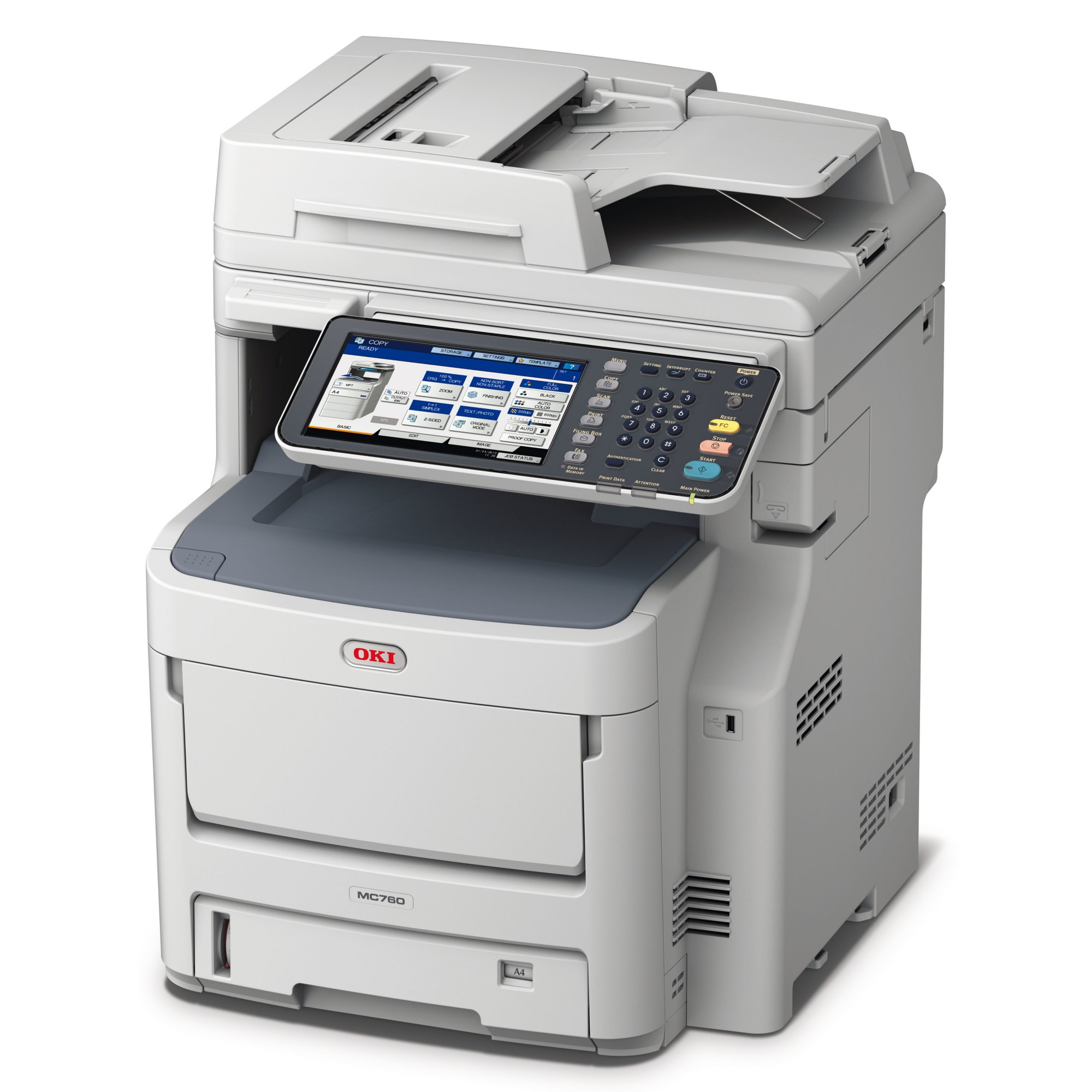 OKI MC760DN A4 Colour Laser Multifunction, 28ppm mono, 28ppm colour, 1200 x 600 dpi, 3 year On-Site warranty