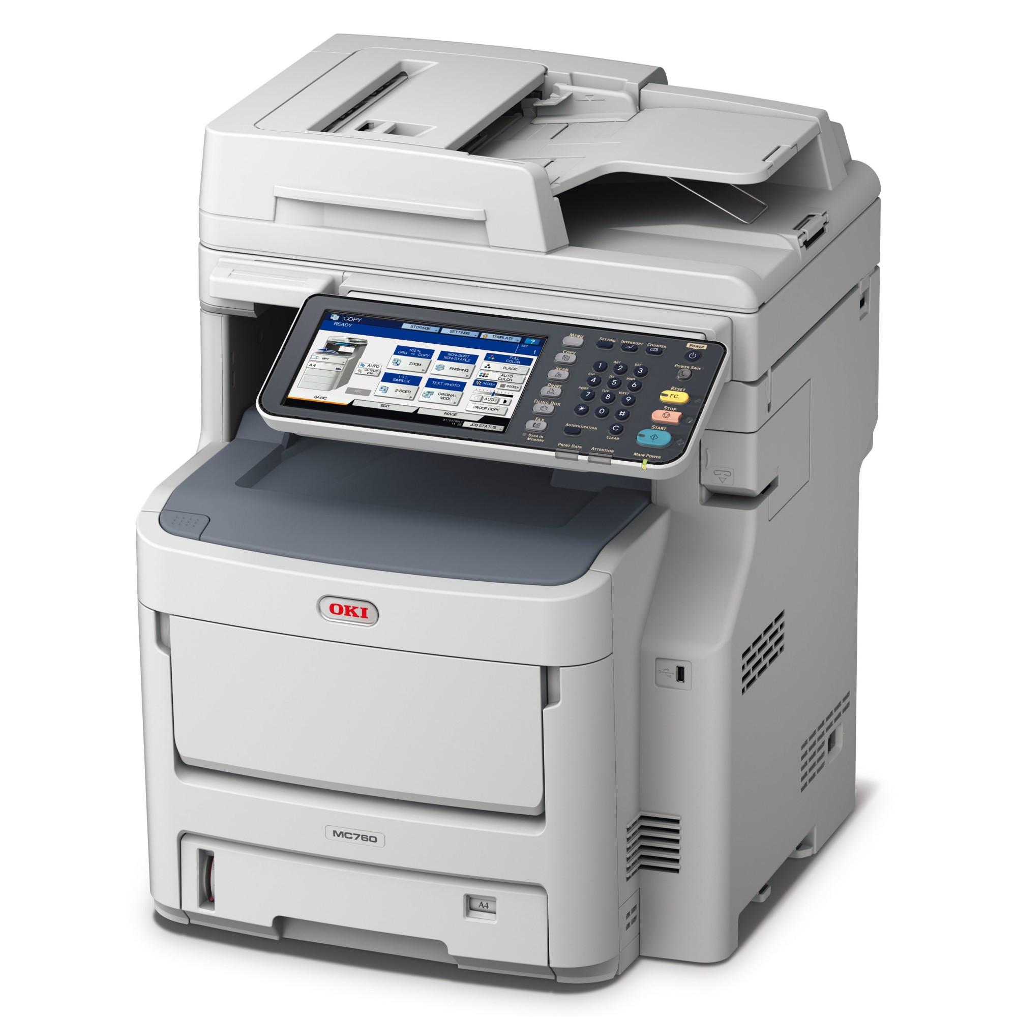 OKI MC760DN A4 Colour MFP - Print/Copy/Scan