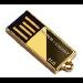 Super Talent Technology USB Stick 8192MB Pico-C Gold 8GB USB flash drive