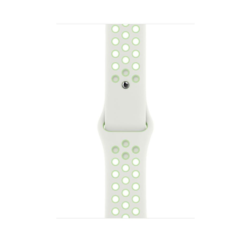 Apple MG3W3ZM/A accesorio de smartwatch Grupo de rock Verde, Blanco Fluoroelastómero