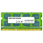 2-Power 4GB MultiSpeed 1066/1333/1600 MHz SoDIMM Memory - replaces 2PSPC31600SDDC14G