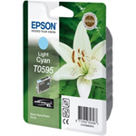Epson C13T05954010 (T0595) Ink cartridge bright cyan, 520 pages, 13ml