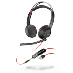 Plantronics Blackwire 5220 Headset Head-band Black,Red