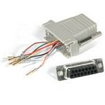 C2G RJ45/DB15F Modular Adapter RJ45 DB15 FM Grey cable interface/gender adapter