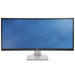 "DELL UltraSharp U3415W LED display 86.4 cm (34"") Wide Quad HD Curved Matt Black"