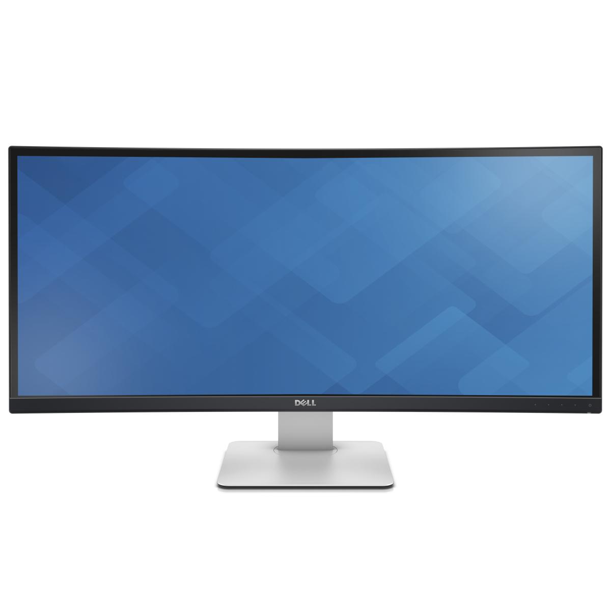 """DELL UltraSharp U3415W LED display 86.4 cm (34"""") 3440 x 1440 pixels Wide Quad HD Curved Matt Black"""