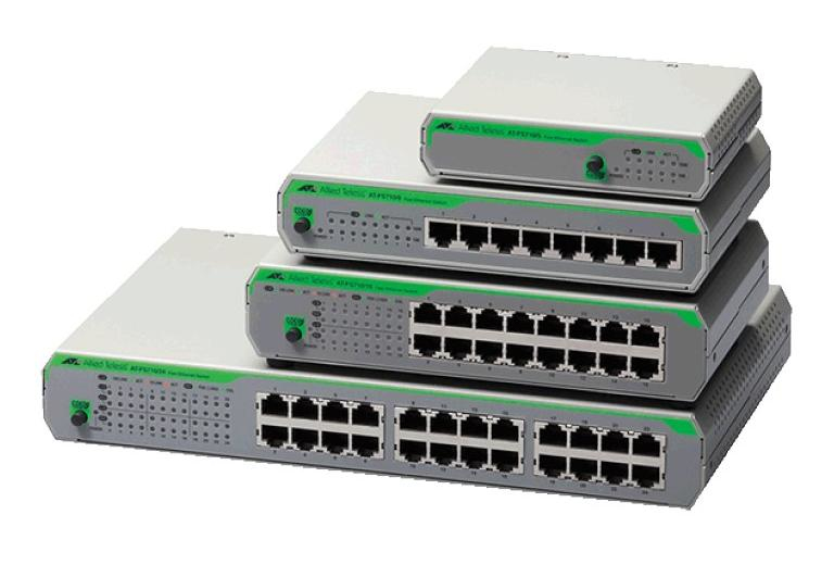 Allied Telesis AT-FS710/8-50 No administrado Fast Ethernet (10/100) Gris