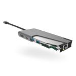 ALOGIC Ultra USB-C Dock PLUS - 2 x USB-A (USB 3.0); 1 x USB-C (Data/PD 100W); 1 x Micro SD Card Slot; 1 x SD Card Slot; 1 x HDMI 4K @30Hz; 1 x Mini DP 4K@30Hz; 1 x Gigabit Ethernet - Space Grey