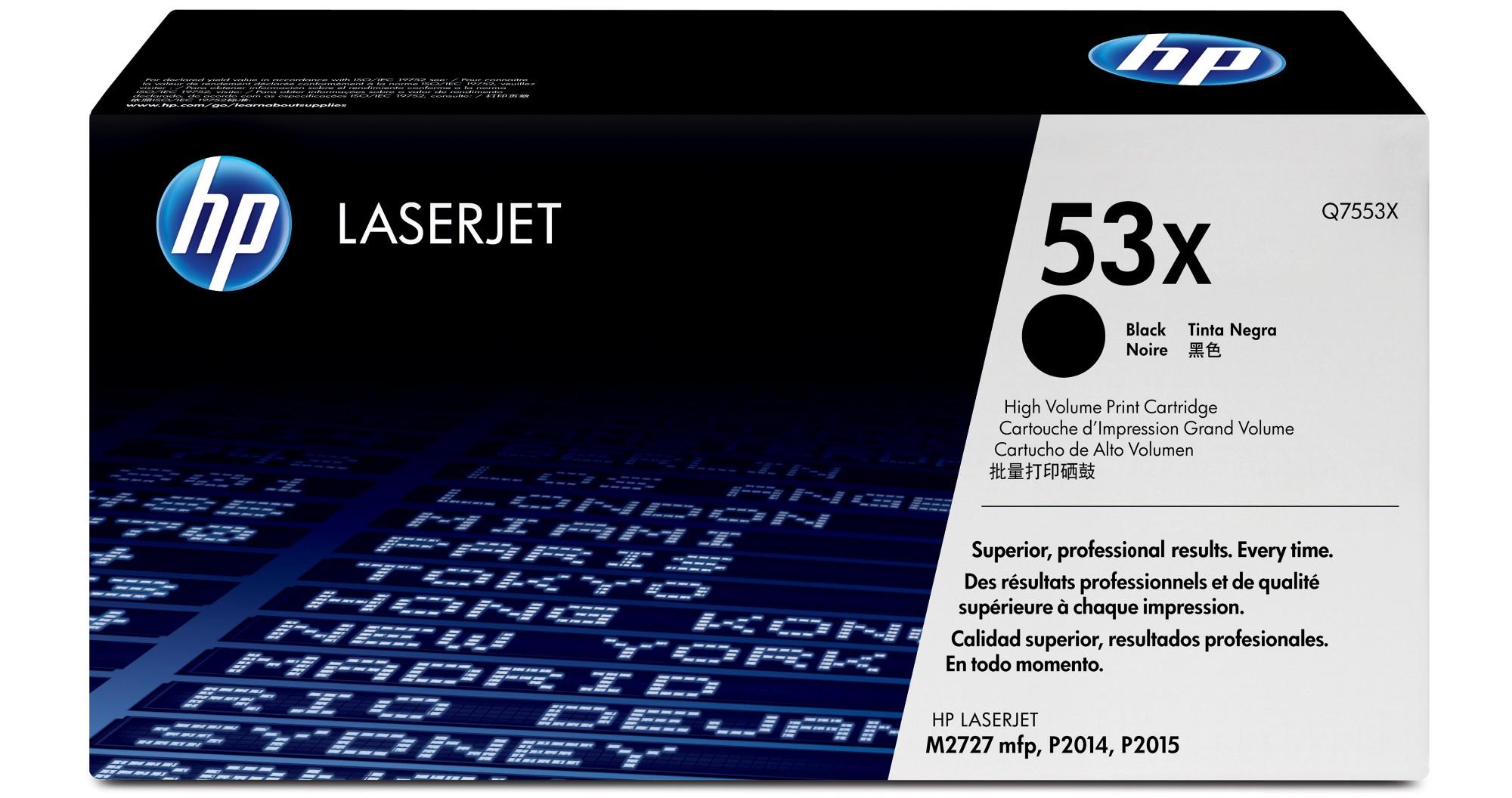 HP 53X Origineel Zwart 1 stuk(s)