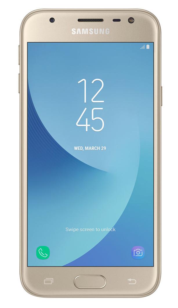 "Samsung Galaxy J3 (2017) SM-J330F 5"" 4G 2GB 16GB 2400mAh Gold SM-J330FZDNBTU"