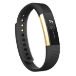 Fitbit Alta Pulsera de actividad Negro, Oro OLED