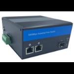 PeakOptical PTMC-13SFP-4P-MPF network media converter 1000 Mbit/s Black