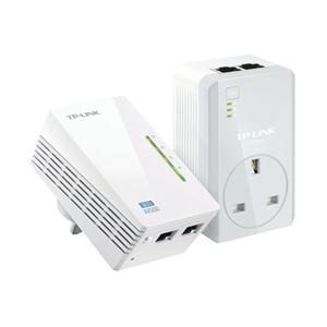 TP-LINK AV500 500Mbit/s Ethernet LAN Wi-Fi White 2pc(s) PowerLine network adapter