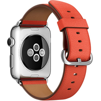 Apple 42mm Classic Buckle - Watch strap - red - for Watch (42 mm), Watch Edition (42 mm), Watch Herm�s (42