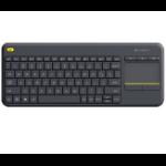 Logitech K400 Plus keyboard RF Wireless Hebrew Black