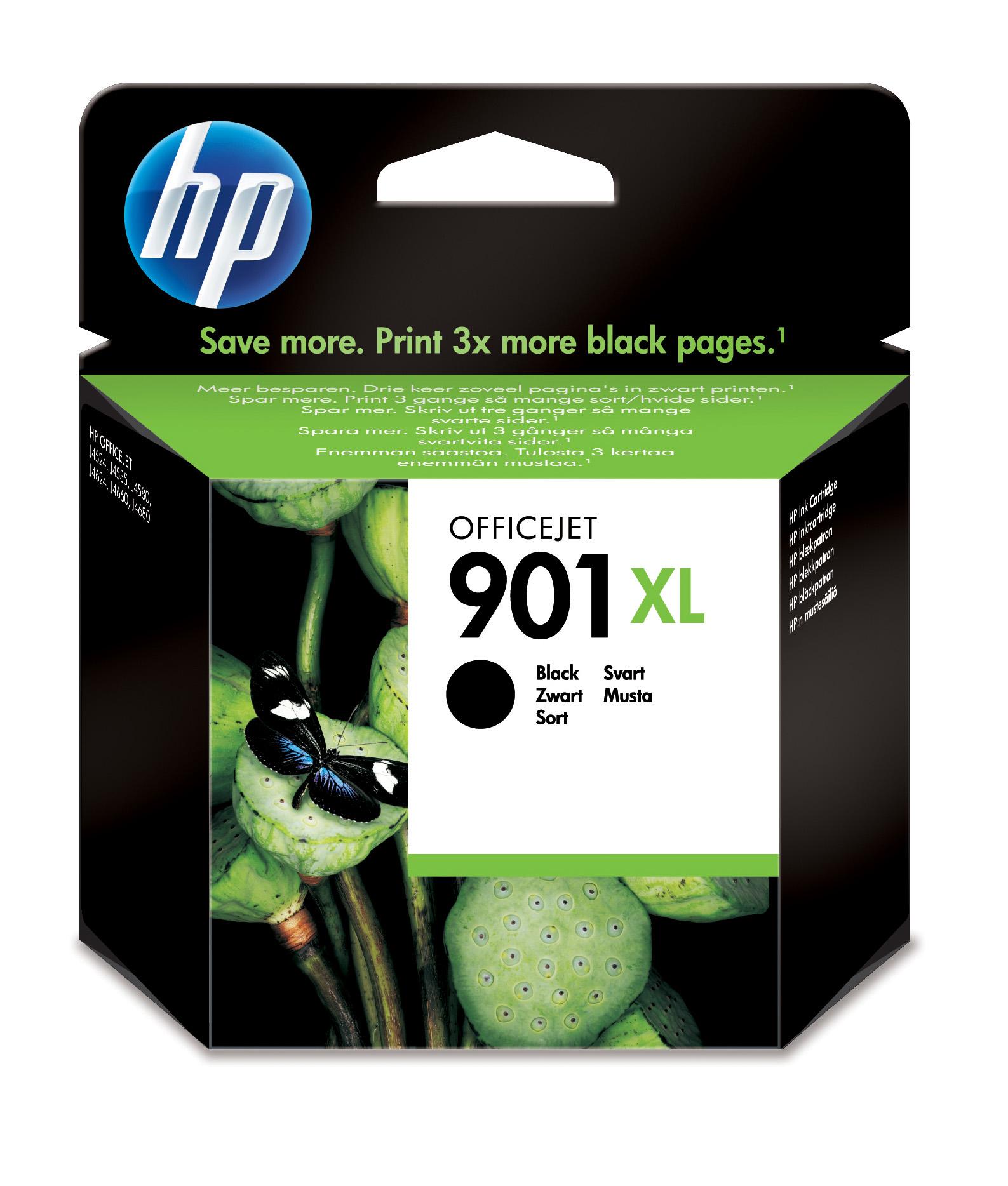 HP 901XL Black Officejet Ink Cartridge Original Negro 1 pieza(s)