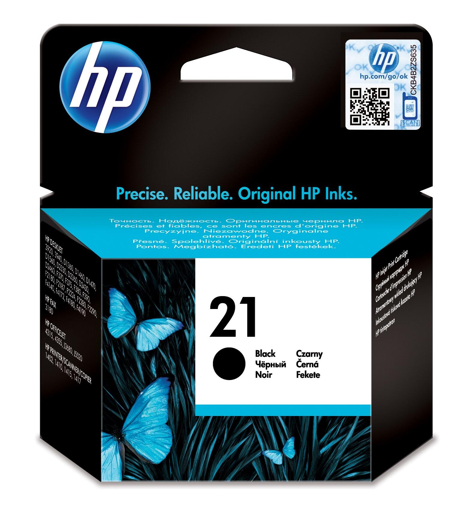 HP 21 Origineel Zwart