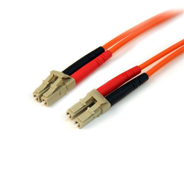 StarTech.com Fiber Optic Cable - Multimode Duplex 50/125 - LSZH - LC/LC - 1 m