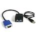 StarTech.com Duplicador Divisor de Vídeo VGA 2 puertos Compacto Alimentado por USB - Cable Splitter