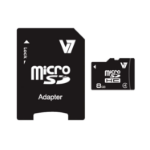 V7 Micro SDHC 8GB Class 4 + SD Adapter memory card VAMSDH8GCL4R-2E