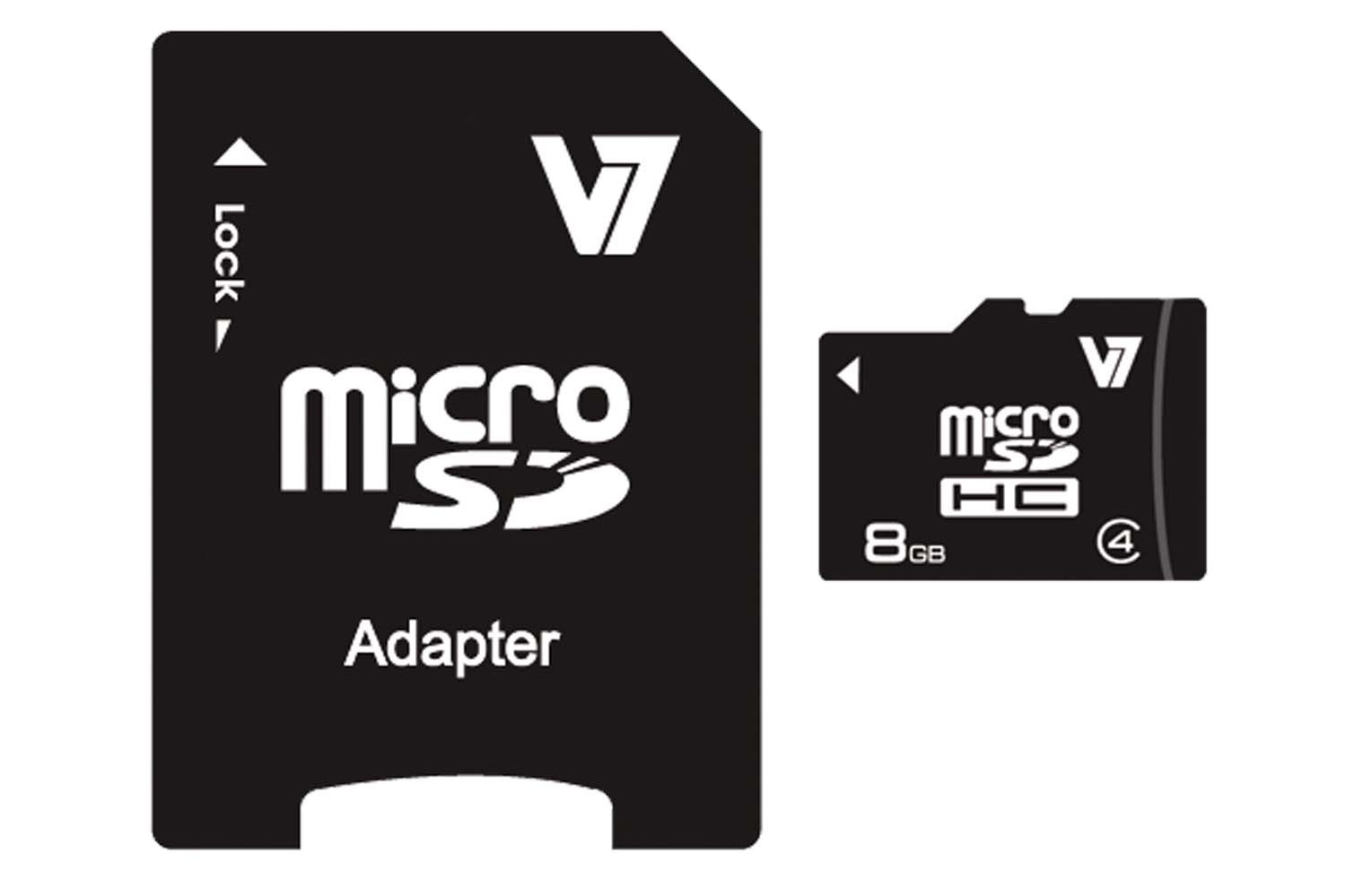 V7 Micro SDHC 8GB Class 4 + SD Adapter