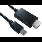 Cables Direct Mini DisplayPort - HDMI, 1m Black