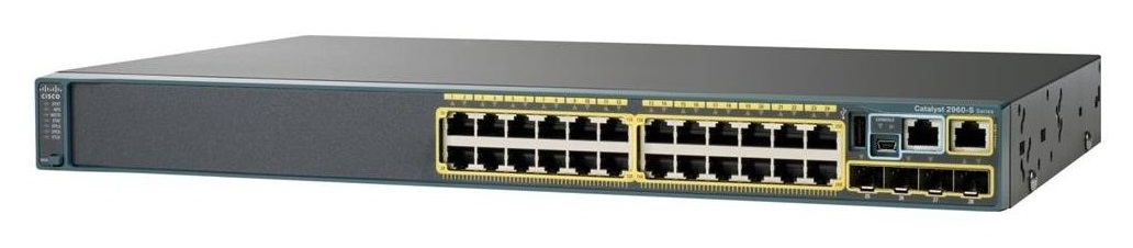 Cisco Catalyst WS-C2960X-24PD-L network switch Managed L2 Gigabit Ethernet (10/100/1000) Black Power over Ethernet (PoE)