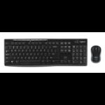 Logitech MK270 RF Wireless QWERTY English Black keyboard