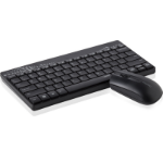 Rapoo 8000 keyboard RF Wireless QWERTY English Black, Gray