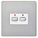 EnerGenie MIHO073 light switch Stainless steel,White