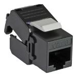 Cablenet Cat6 UTP Tool-Less Keystone Jack Black