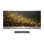 """HP ENVY 34 Curved 34"""" Ultra-Wide Quad HD LED Black, Silver computer monitor"""