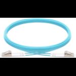 Vision TC 1MFBR LCLC fibre optic cable 1 m LSZH OM3 LC Blue