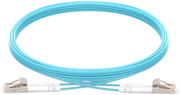 Vision TC 1MFBR LCLC fiber optic cable 1 m LSZH OM3 LC Blue