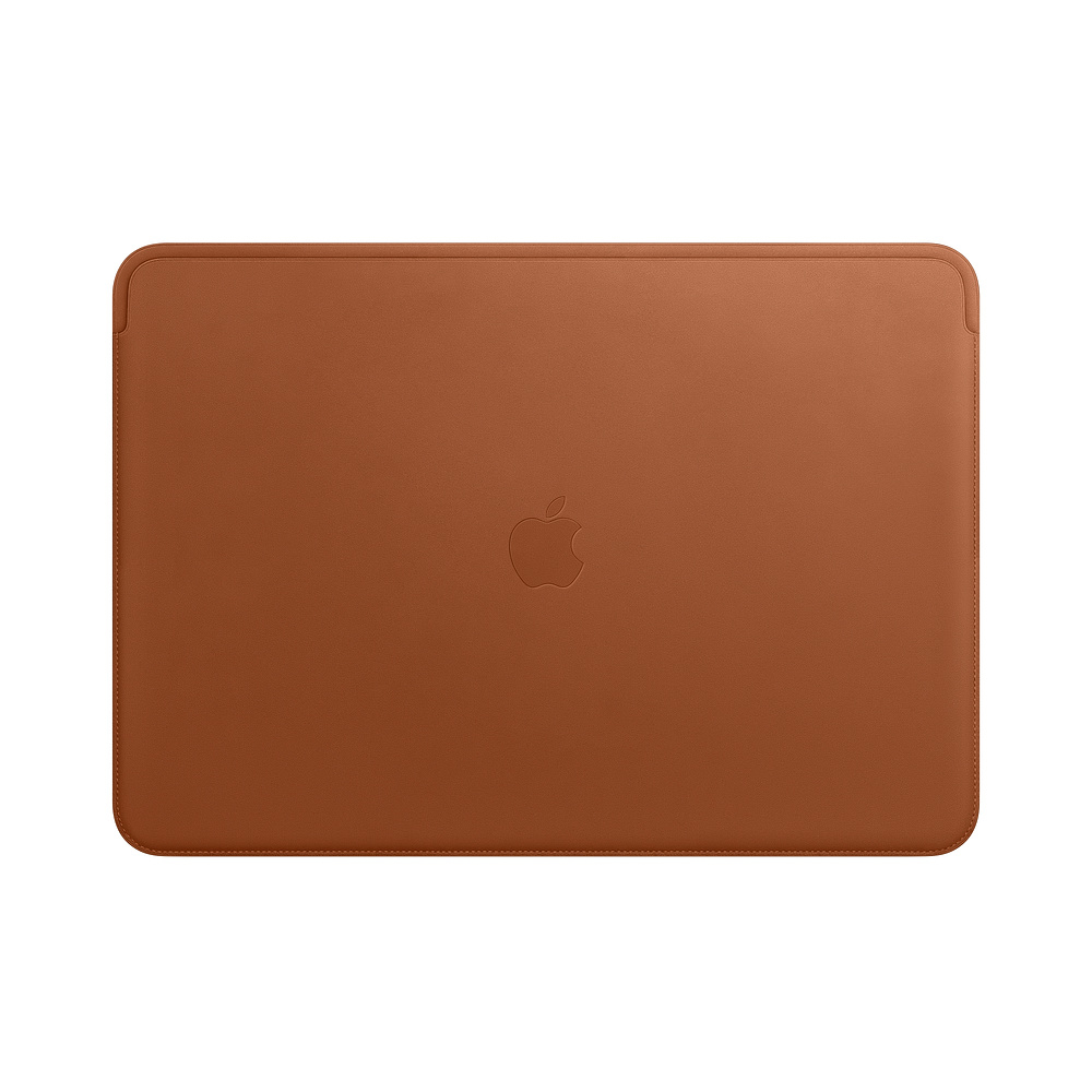 Leather Sleeve - 15in MacBook Pro - Saddle Brown
