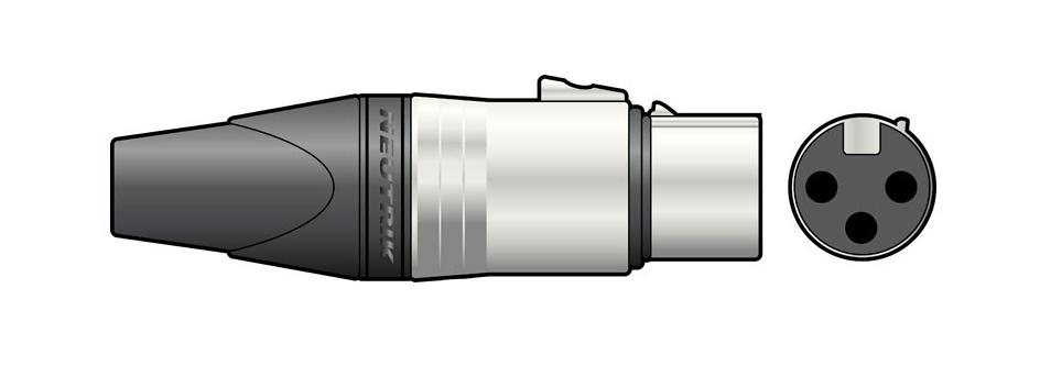 Qtx 762.122UK wire connector 3-pole XLR Black,Silver